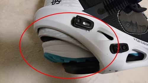 スノーボードビンディングの選び方でヒールカップは重要